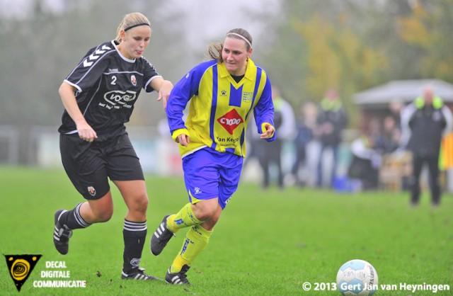 Nadine Bier van Berkel sterk aan de bal kreeg in het begin van dit duel voldoende mogelijkheden om afstand te nemen tegen Jodan Boys.