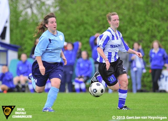 Daphne Troost van Zwervers kreeg een aantal mogelijkheden in de tweede helft om de wedstrijd te beslissen. Uiteindelijk wacht Troost tot de 90e minuut.