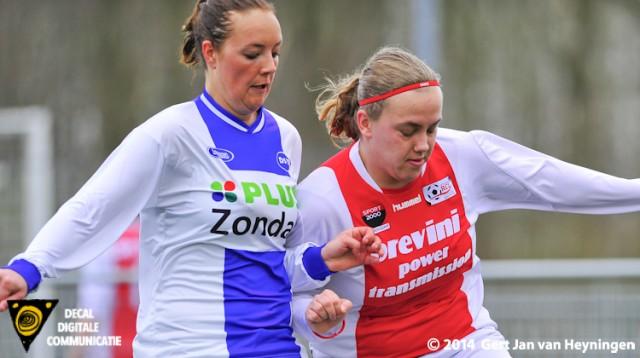 Leuke duels tussen Bianca van der Meer van RCL en Tamara van de Toolen van DSVP.