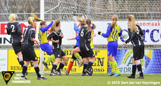 Lindy Hogedoorn scoorde de 1-0 voor Berkel.