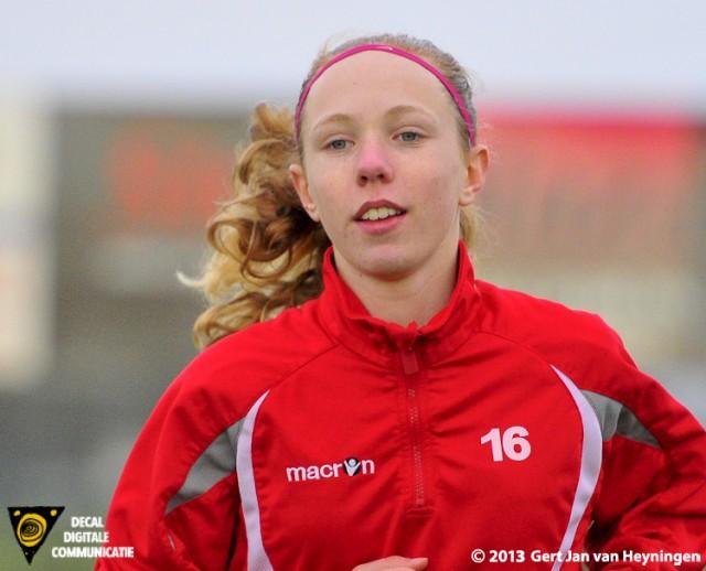 Roswitha Wintermans van SteDoCo scoorde de gelijkmaker in het bekerduel tegen Topklasser RCL.