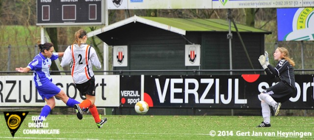 De eindstand van 0-7 werd bepaald door niemand minder dan Samantha Cornet van SVS die feilloos het leer achter Jodan Boys sluitpost Beau Suurland in het net schiet.