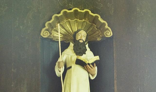 Beeld van Theobaldus de Provins in de Kapel Saint-Thibaut.